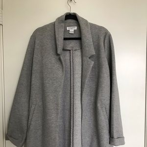 Light Grey Midi Duster Jacket w/ pockets